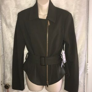 Worth New York Breen Stretch Crepe Belted Jacket